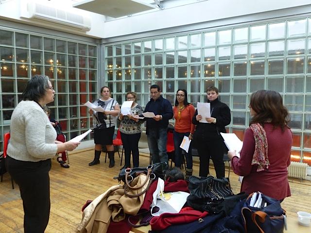 Abbeville - dernière répétition au Safran, textes de Sophie Adriansen, Francis Mizio