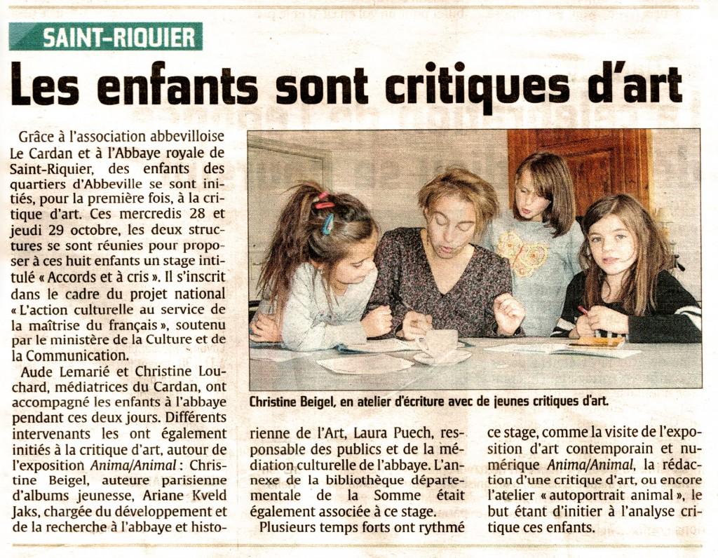 critique art Saint Riquier