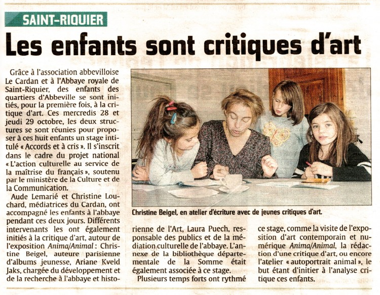 critique art Saint Riquier